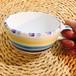 マヨリカ焼き スープカップ サンゴ柄