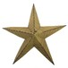 Vintage Rustic Yellow Metal Tin Barn Star 27''