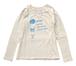 纏うもの06:CookieT Vネックラグラン長袖Tシャツ|生成り|レディース