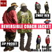 REVERSIBLE 2WAY COACHJACKET wave bp-08