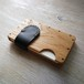 a card case  オーク×ブラック 無垢材と本革の名刺入れ | 木で作ったナチュラルでおしゃれな名刺入れ tackle wood design