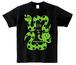 2013ヘビ猫Tシャツ (みどり)
