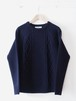 FUJITO Cable Knit Sweater 'Directors 限定' Navy,Mix Gray