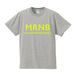 Mr.Nobite Tee : Gray × FLUORESCENT YELLOW
