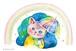 虹をみるには我慢ネコ〔ポストカード〕