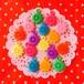 プラスチックのカラフルなお花のチャーム16個セット