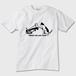 【ねこTシャツ】What can you hear ? 猫デザイン 白 ガーメントインクジェット印刷