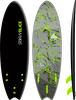 Storm Blade 6ft Swallow Tail Surfboard / Black x Silver Marble