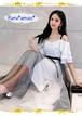 【お取り寄せ品】上品なシャレ感◆キャミソール×チュールスカートのセットアップ
