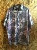 abstract painting silk shirt