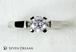 プラチナ婚約指輪 4ポイントハイショルダーソリテール