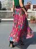 Diane freis Red floral silk skirt & dress