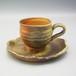 自然釉コーヒカップ&ソーサーセット〈OS-D01-4〉