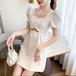 【dress】エレガント気質満点透かし彫りボタンデザインデートワトップ3色 M-0185