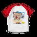 <ラグランTシャツ ホワイト×レッド>両面印刷 お風呂みーちゃん