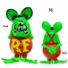 Rat Fink Soft Vinyl Doll Fluorescent GR RFF Special edition