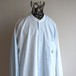 1990's USA製 [nautica] バンドカラーコットンシャツ ペールトーン マルチカラーストライプ 表記(M) ノーティカ