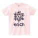 ERICH / HEXAGRAM LOGO T-SHIRT LIGHT-PINK