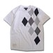 Patchwork T-shirt / Argyle –White