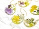 《セミオーダーE~H》お好きな組み合わせを選べる 山野草 森の花のピアス・14kgf《イヤリング可 》