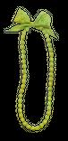 リボンネックレス(light green)