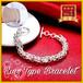シルバーカラー 沢山のリングが素敵なトレンドタイプのブレスレット メンズ レディース zbga187