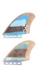 Rob Machado KEEL FIN 【BLUE×BLACK MULTI】