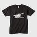 メンズTシャツ パドリングシルエット(Leo R. Yamada) 黒