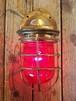 20's blass Marine Lamp, red glass