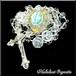 ロザリオ《水晶》ルルドの聖水入り*ハート型オルゴナイト