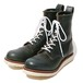 "RUDE GALLERY BALCK REBEL ""REBELS LACE UP BOOTS <CAP TOE>"""