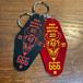 """RED DEVILS MOTEL"" Key chain / キーホルダー(RED / BLACK)"