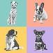 リアルタッチポップアート/犬猫、ペットうちの子似顔絵