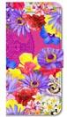 【iPhone5/5s/SE】 Hawaiian Flowers Garden ハワイアンフラワーズガーデン ー Fuchsia Pink フューシャピンク 手帳型スマホケース