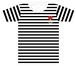 SUPER BORDER Tシャツ【ブラックXSのみ】
