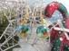 キラキラクリスマスベルを閉じ込めた聖夜のピアス(サークル)