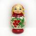 マトリョーシカ木製マグネット(赤い実)【ロシア】