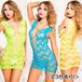 【ミニドレス】<全3色あり!> ウェービーデザインネットミニドレスML6627