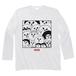 "minario / たまおさん""集合"" LONG SLEEVE T-SHIRT WHITE"
