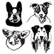 Silhouette touch illustration/Portraits of Dogs, Cats and Pets