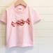 Red Candy/ベビーピンク - ネームオーダーTシャツ