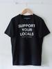 FUJITOSKATEBOARDING Print T-Shirt  SYL ver. Black,White