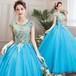 8011カラードレス ロングドレス 結婚式二次会 発表会 披露宴 演奏会 大きいサイズ  小さいサイズ