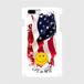 LIFE is life スマホケース(二コちゃんアメリカンフラッグ)各iPhone5~7、Android S,M送料無料!
