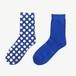 METAL SOX (1.5DOT) BLUE X SILVER