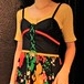 Flower pattern lase-up dress 花柄レースアップワンピース