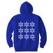 ERICH / NINTH HEXAGRAM HOODED SWEATSHIRT BLUE