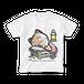 <白Tシャツ 正面>おやすみーちゃん
