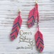 Feathers Asymmetrical Pierce/Earrings -MadRed-