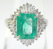 【高級】総2ct超 天然エメラルド ダイヤリング プラチナ ~【Luxury】 Natural emerald diamond platinum 2 carats or more in total~